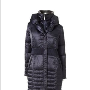 Hooded Satin Down Puffer Jacket